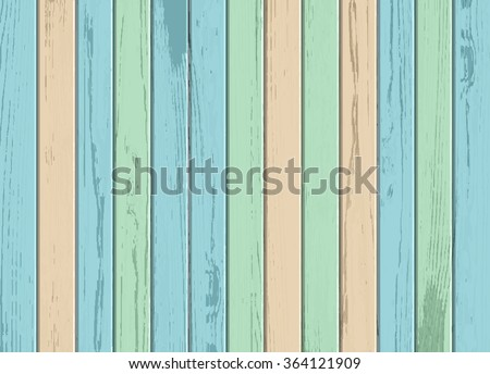 Vector wood colorful  texture background - stock vector