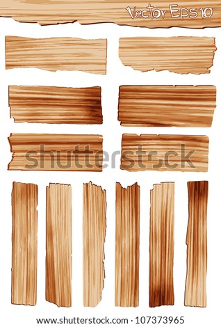 Vector wood plank - stock vector