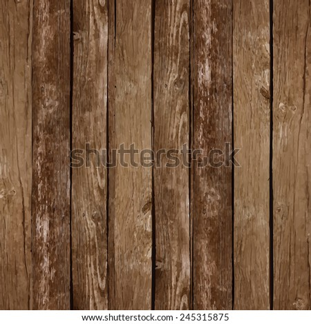 Vector wood plank background - stock vector