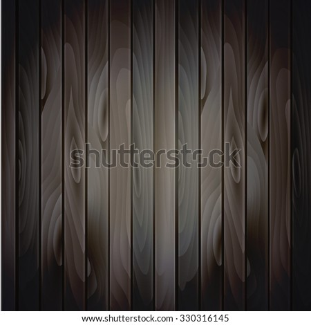 Vector wood plank background in cold colors - stock vector