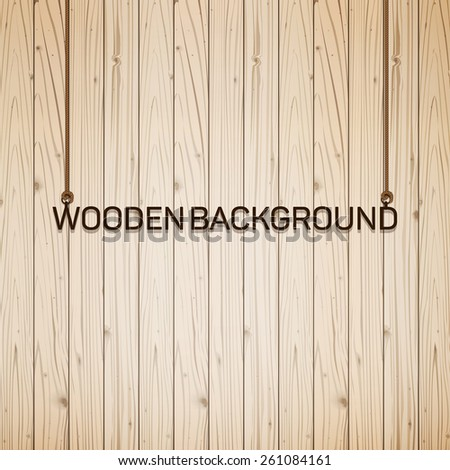 Vector wood plank background, vintage eps 10 - stock vector
