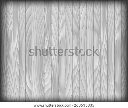 Vector wood plank gray for background, vector illustration - stock vector