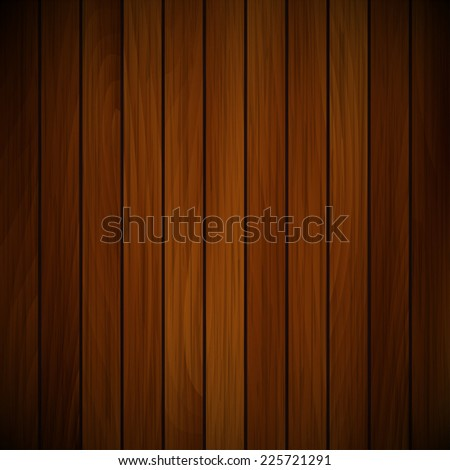 Vector wood plank, red and brown texture background illustration - stock vector
