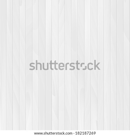 Vector wood plank, white texture background illustration - stock vector