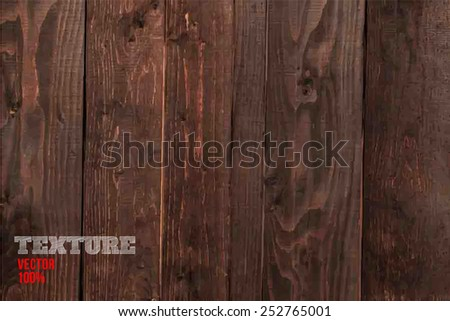 Vector wood texture. background old panels. Grunge retro vintage wooden texture, vector background - stock vector