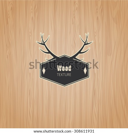 Vector Wood texture template  - stock vector