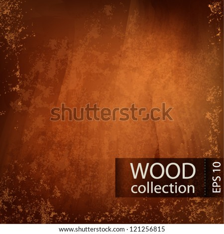 Vector wooden background with place for your text - stock vector