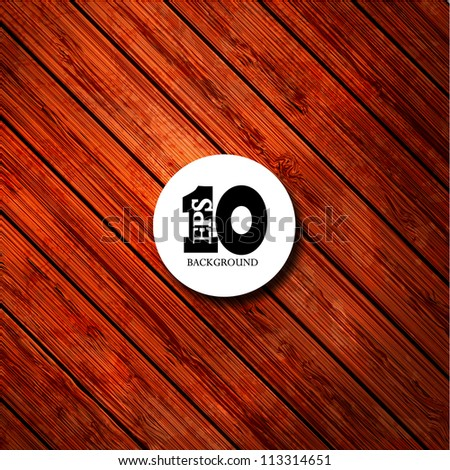Vector wooden background with place for your text. Eps10 - stock vector