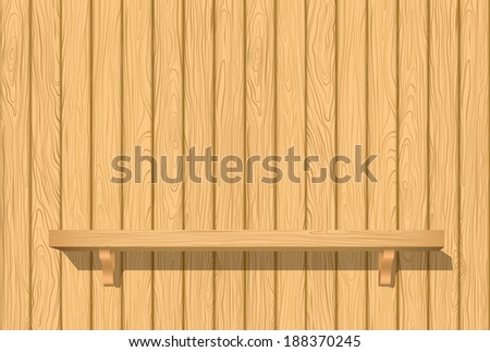 Vector wooden shelves for your design. Shelf. - stock vector