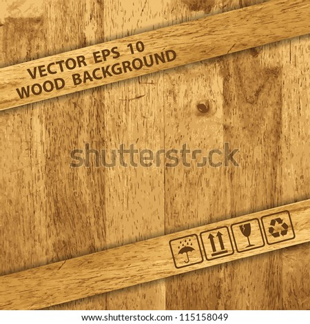 Vector Wooden texture background - stock vector