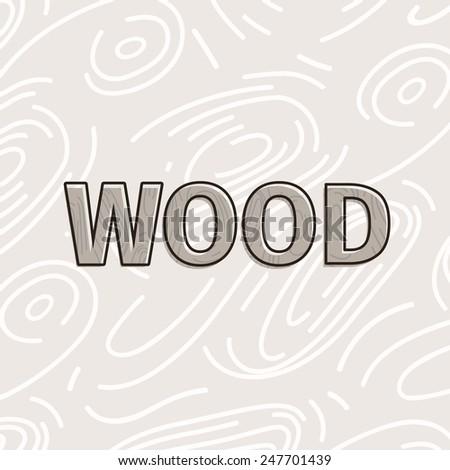 Vector woods texture, hand-drawn illustration - stock vector