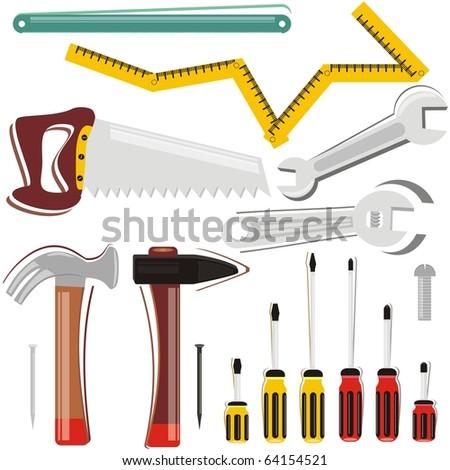 VECTOR - Work Tool Set - stock vector