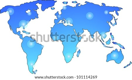 Vector world map - stock vector