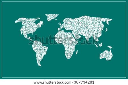Vector world map. - stock vector
