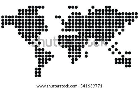 Vector world map dots vector de stock541639771 shutterstock vector world map dots gumiabroncs Image collections