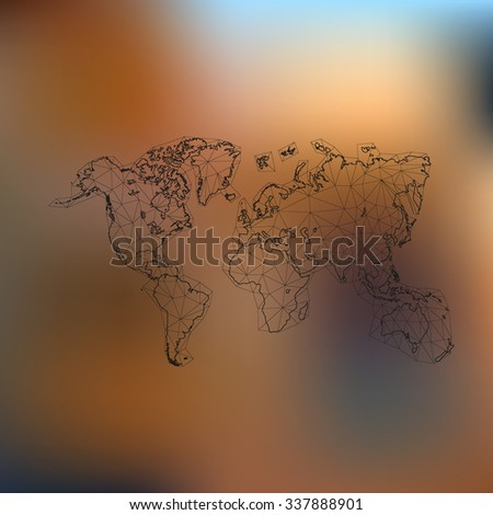 Vector world map for your business work - stock vector
