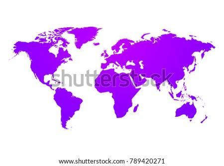 Vector world map global earth icon stock vector 789420271 vector world map global earth icon america asia australia africa usa gumiabroncs Choice Image