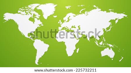 Vector world map Illustration - stock vector