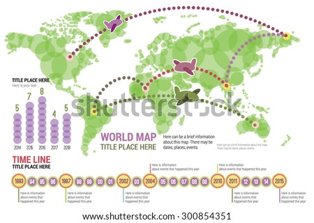 Vector world map green color infographic stock vector 300854351 vector world map in green color with infographic elements icons diagrams scale gumiabroncs Choice Image