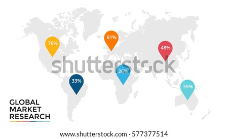 vector world map infographic global market stock vector 577377514 shutterstock