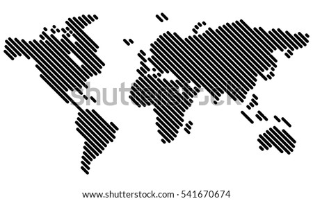 Vector world map lines vector de stock541670674 shutterstock vector world map lines gumiabroncs Choice Image