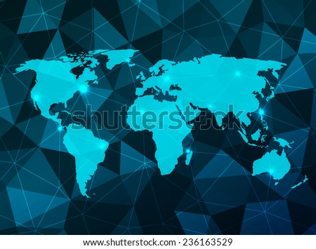 Vector World Map on an abstract background