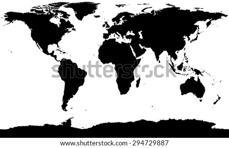 Vector world map silhouette stock vector hd royalty free 294729887 vector world map silhouette gumiabroncs Image collections