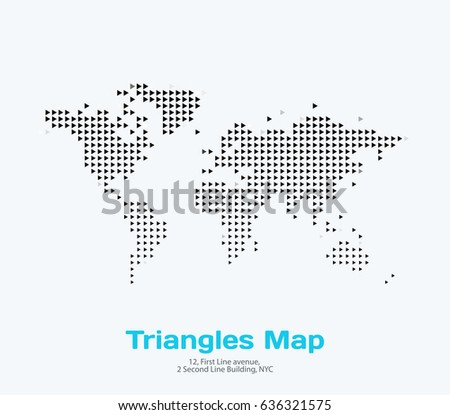 World map dots all elements separated vectores en stock 773170879 vector world map template with triangles for business graphic design abstract art for technology and gumiabroncs Image collections