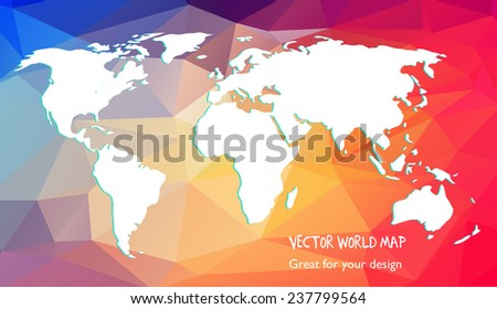 Vector world map triangle set stock vector 237799564 shutterstock vector world map triangle set gumiabroncs Image collections