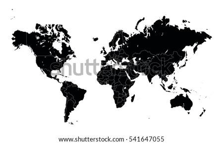 Vector world map countries outline vectores en stock 541646116 vector world map countries outline vectores en stock 541646116 shutterstock gumiabroncs Image collections