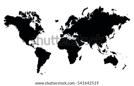 Vector world map without countries plain vectores en stock 541644100 vector world map without countries plain gumiabroncs Images