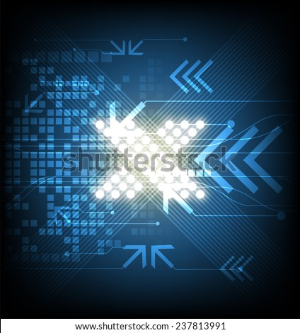 vector X symbol abstract digital innovative technology, telecom network background - stock vector