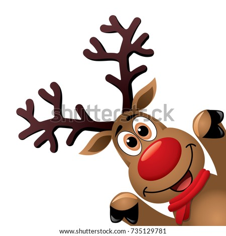 rudolph the red nosed reindeer stock images royalty free. Black Bedroom Furniture Sets. Home Design Ideas