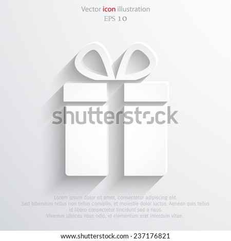Vector xmas gift icon background. Eps 10 illustration. - stock vector