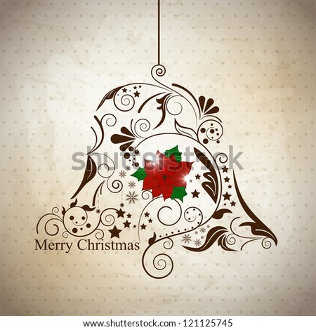 Vector xmas greeting card with abstract ball - stock vector