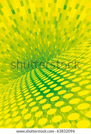 Vector yellow halftone - color can be changed - stock vector