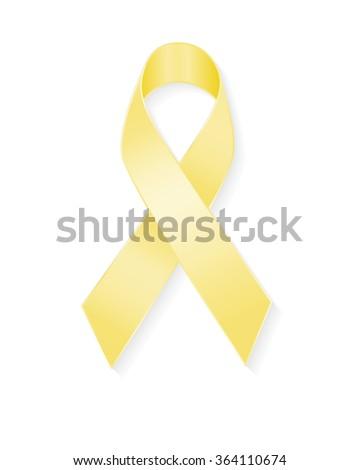 Vector Yellow Ribbon Bone Cancer Troops Vector de stock364110674 ...