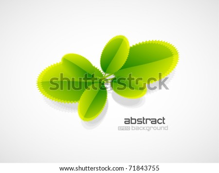 Vector young plant - stock vector