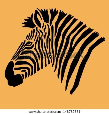 Vector zebra - stock vector