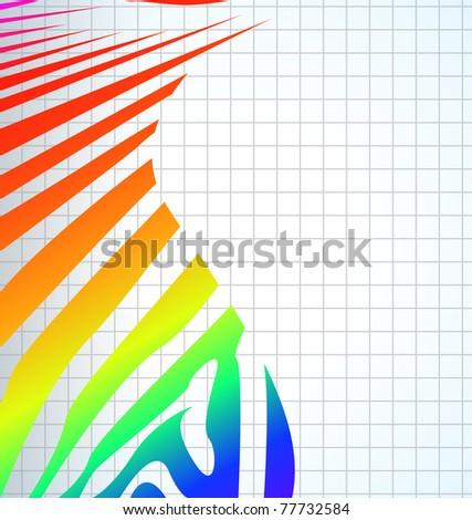 vector zebra abstract background with text eps - stock vector