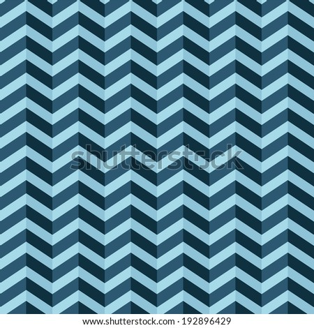 Vector zigzag blue seamless pattern. Eps10 - stock vector
