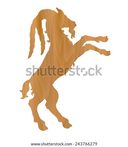 vector zodiac sign - Goat Year - stock vector