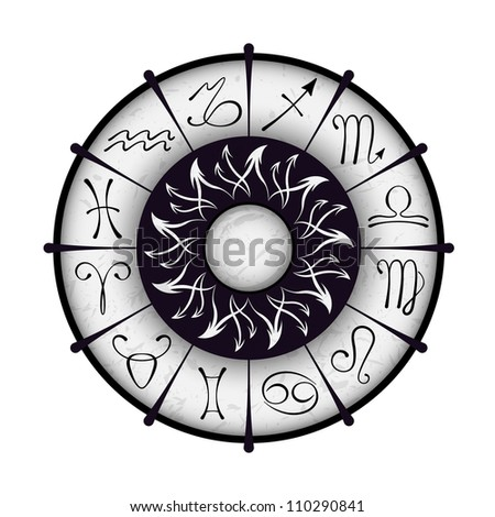 Vector zodiacal circle - stock vector
