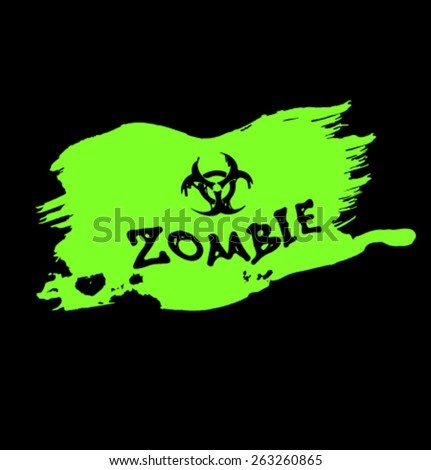 Vector zombie elemrts-01 - stock vector