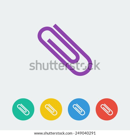 vectorclip flat circle icon - stock vector