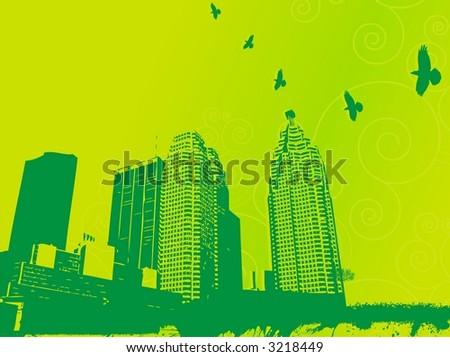 vectorial city - stock vector