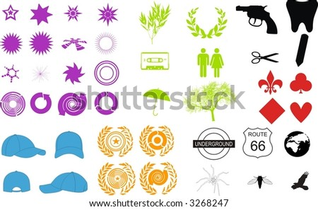vectorial element collection ngraphic - stock vector