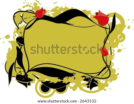 vectorial frame with tulips - stock vector