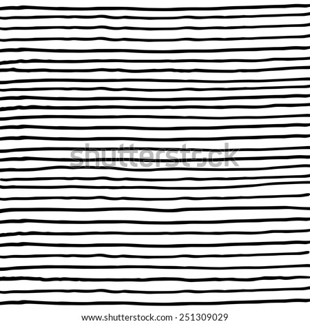 Vectorized ink black and white halftone texture/ Hand drawn lines with different density and incline/ Abstract background/ Vector design elements - stock vector
