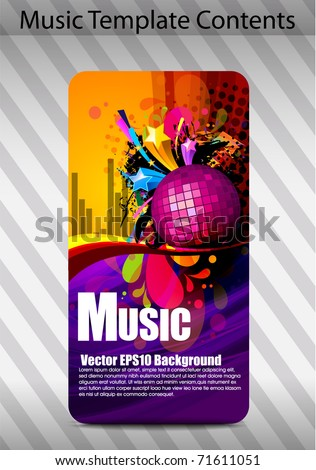 Vectors Musical theme banner background with elements, Editable Illustration - stock vector